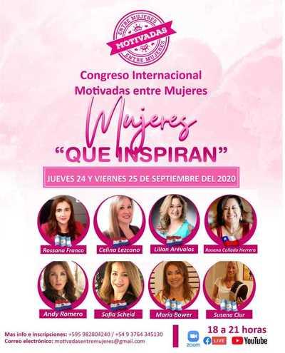 Organizan el Primer Congreso Internacional Motivadas entre Mujeres