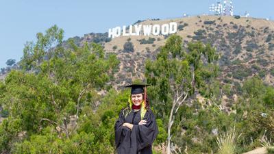 Franqueña se gradúa con honores en Estados Unidos