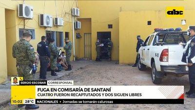 Seis reos se fugaron de la Comisaría de Santaní