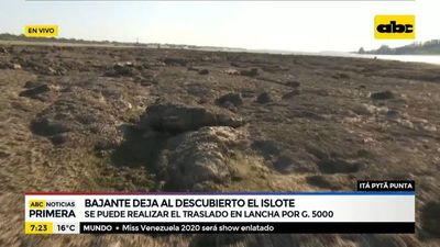 Realizan traslados en lancha hasta el islote de Itá Pytã Punta