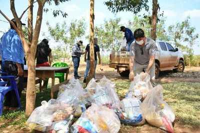 ITAIPU entregó primer lote de 30.000 kg de alimentos a comunidades indígenas del Alto Paraná