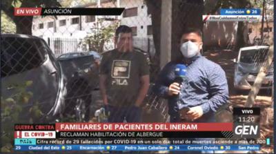 HOY / Familiares de pacientes internados en el Ineram, reclaman la habilitación de un albergue en el lugar