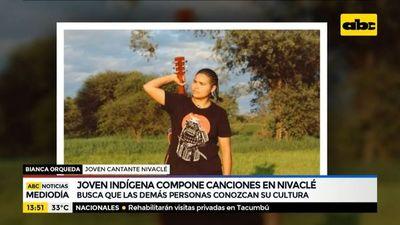 Joven indígena compone canciones en Nivaclé