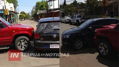 ACCIDENTE DEJÓ DAÑOS MATERIALES EN ACCESO A CURUPAYTY.