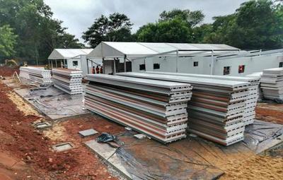 Pabellones de contingencia sumarán 144 camas más al sistema de Salud Pública