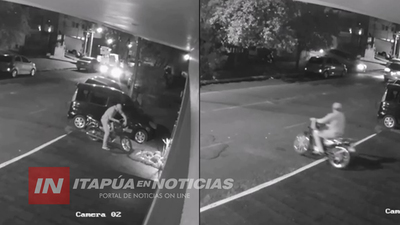 ASÍ HURTARON UNA MOTOCICLETA EN PLENO CENTRO DE ENCARNACIÓN