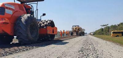 Mejoramiento de la ruta Paraguarí-Villarrica registra un avance del 53%