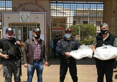 Entregan tapabocas y equipos de bioseguridad a Penitenciaría Regional de Concepción