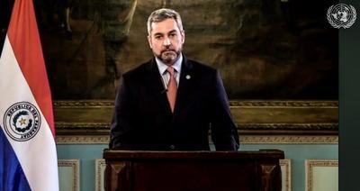 Abdo condena al terrorismo y ratifica institucionalidad durante la asamblea de la ONU