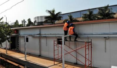 HOY / En Ciudad del Este casi terminan de edificar pabellón de contingencia