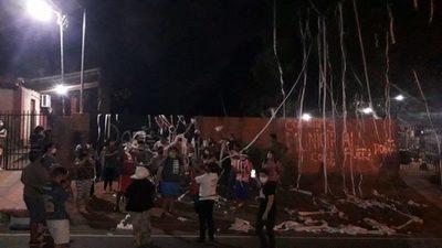 Manifestación en barrio Miraflores