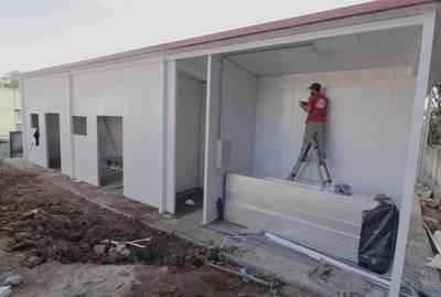 Avanzan obras de pabellones de contingencia en diferentes puntos del país