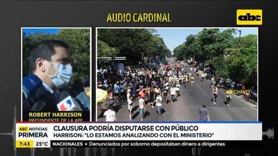 Torneo Clausura podría disputarse con público