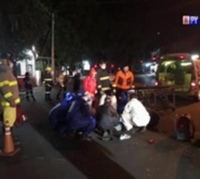 Violento accidente de tránsito en Ñemby