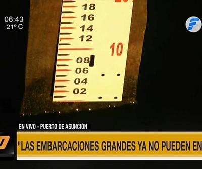 Nivel del río Paraguay impide ingreso de grandes embarcaciones a Puerto de Asunción