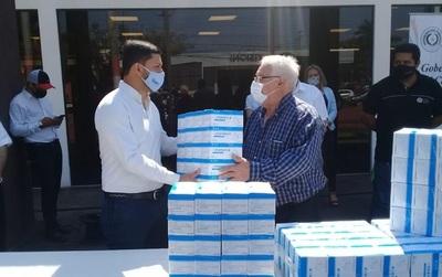 Gobernación entregó 5 mil tapabocas al municipio de Coronel Oviedo