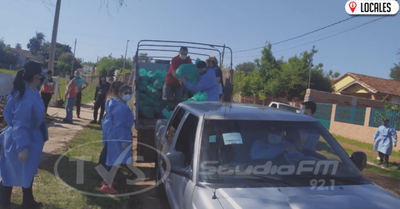 Inician distribución de víveres a familias reubicadas por la EBY