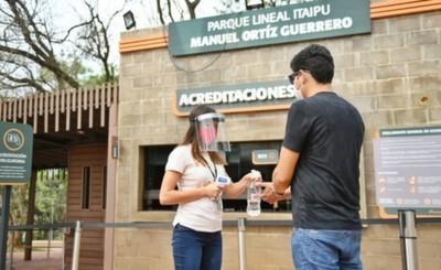 Más de 1.000 personas ingresaron al Parque Lineal, tras su reapertura
