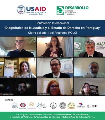 Expertos de la universidad de Notre Dame evaluaron sistema paraguayo de justicia