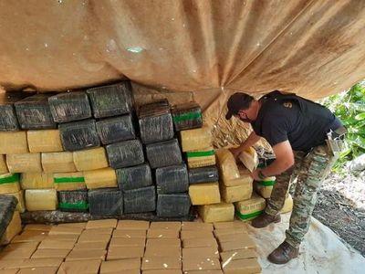 Incautan más de una tonelada de marihuana en Yby Pytá