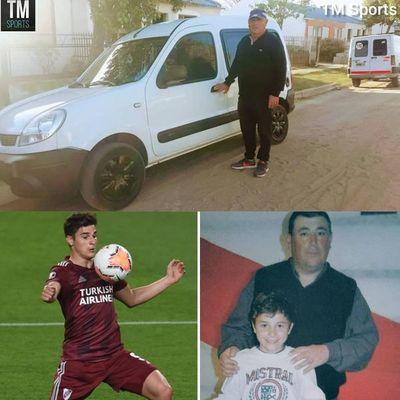 El Joven jugador de River Plate Julián Álvarez regaló una camioneta a su técnico de infancia