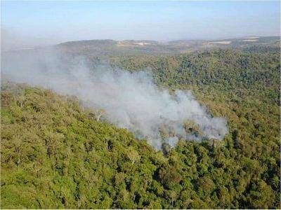 Nuevos focos de incendios amenazan al Parque Nacional de Caazapá