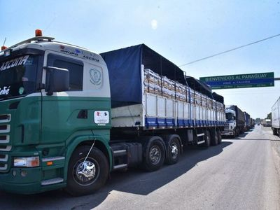 Cierre de ruta argentina paraliza exportación de carne y banana