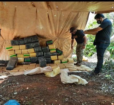 Canindeyú: Fiscalía logra incautar más de una tonelada de droga en Yby Pytá