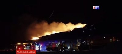 Incendio de gran magnitud en Cateura