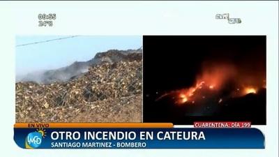 Sofocan incendio en Cateura, tras siete horas de trabajo