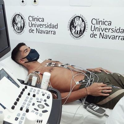 Luis Suárez realizó la revisión médica en el Atlético Madrid