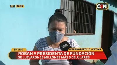 Delincuentes se llevan millones de fundación en Capiatá