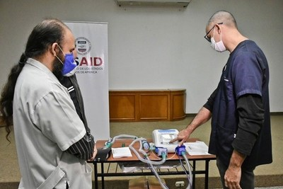 Estados Unidos, mediante gestión del Brasil, donó otros 30 respiradores a nuestro país