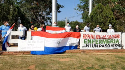 Personal sanitario de San Pedro reclama cobro de gratificaciones