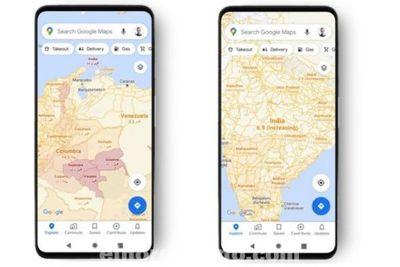 Google mostrará los últimos siete días de casos de COVID-19 para el área del mapa que se esté visualizando