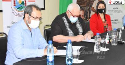 CAH firmó convenio de cooperación con la Gobernación de Itapúa