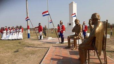Mandatario inauguró obras en sitios históricos de la Guerra Grande y comprometió más recursos para Ñeembucú