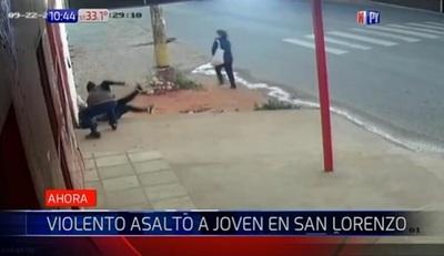 Asaltan a mujer con suma violencia en San Lorenzo