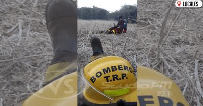 Bombero rindió examen parcial mientras apagaba un incendio