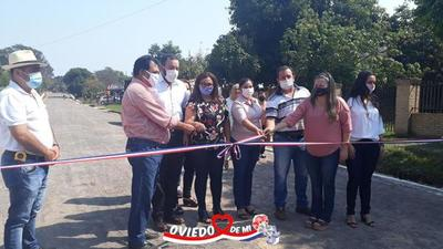 Municipio ovetense inauguró empedrado en Quinta Neluye – Prensa 5