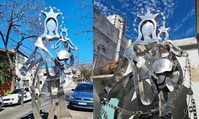 """Escultura de la Virgen del Rosario """"iba a ser una sorpresa"""" dice Eladio – Prensa 5"""