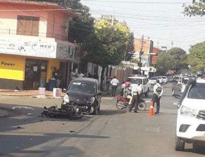 Motocilista muere en triple choque en San Lorenzo