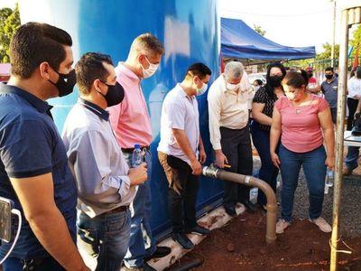 Municipalidad de PJC inaugura más un pozo artesiano en el populoso Barrio Obrero