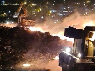 Empresa a cargo del vertedero Cateura denuncia incendios provocados