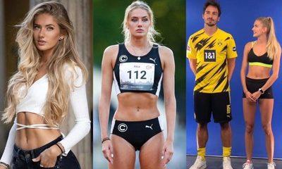 ¿La atleta Alica Schmidt, de 21 años, es entrenadora física del Borussia Dortmund?