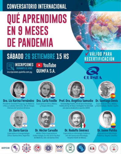 Conversatorio internacional ¿Qué aprendimos en 9 meses de pandemia?
