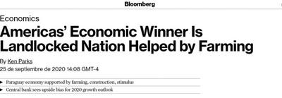 """Paraguay es """"el más exitoso"""", según Bloomberg"""