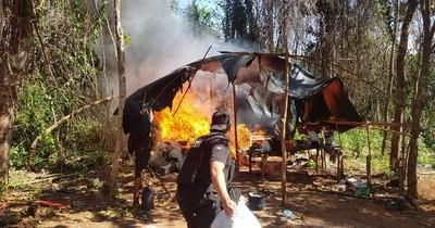 La Nación / Destruyen campamento con toneladas de marihuana en Caaguazú