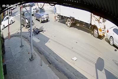 Motoca muere en tremendo accidente de tránsito