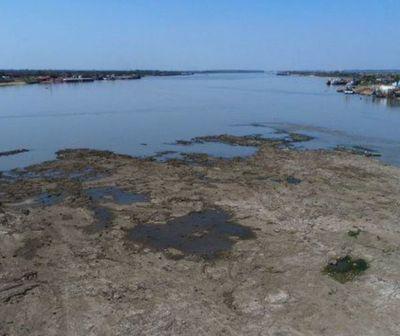 Histórica sequía del río Paraguay